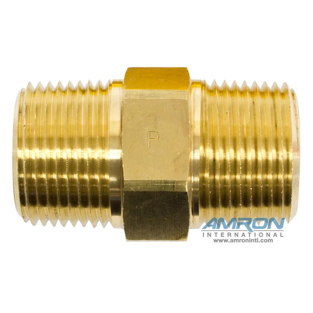 Parker Pipe Nipple 3/4 inch NPT - Brass FF-B-3/4