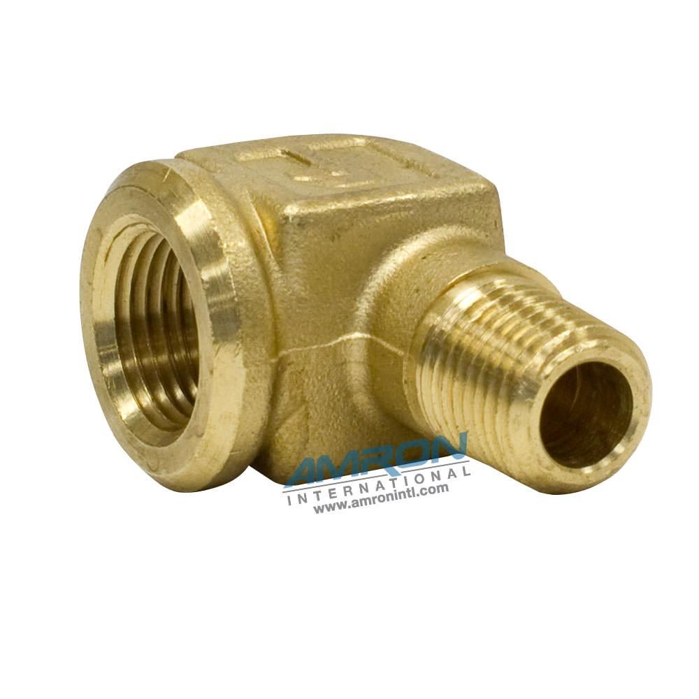 Parker Street Elbow 3/8 inch FNPT x 1/4 inch MNPT Brass 1202P-6-4