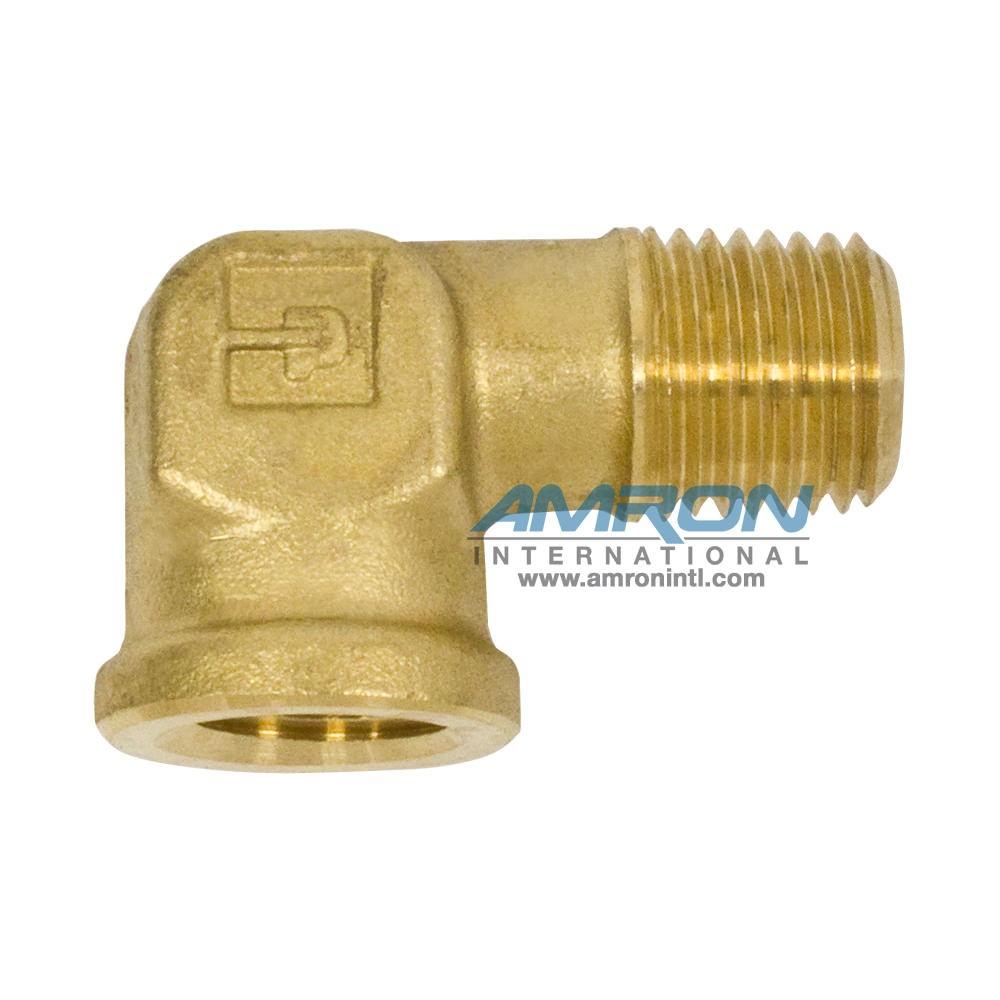 Parker Street Elbow 1/4 inch NTP - Brass 1202P-4-4