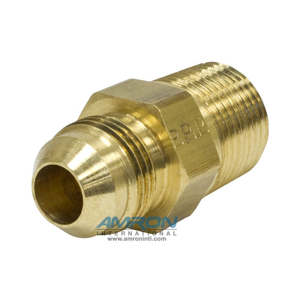 Parker Triple-Lok® FTX Male Connector 1/2 in. JIC and 1/2-14 NPT - Brass FTX-B-8-8