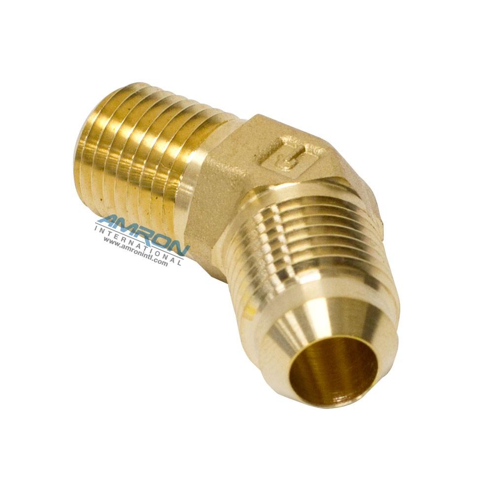 Parker Triple-Lok® Male 45° Elbow 3/8 in. JIC and 1/4-18 NPT - Brass VTX-B-6