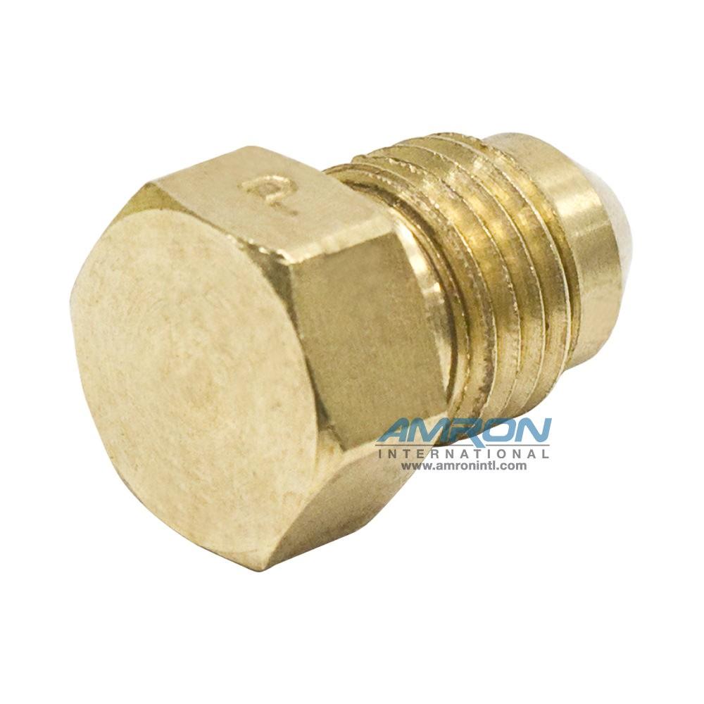 Parker PNTX Plug Triple-Lok 37° Flare 1/4 inch - Brass - PNTX-B-4