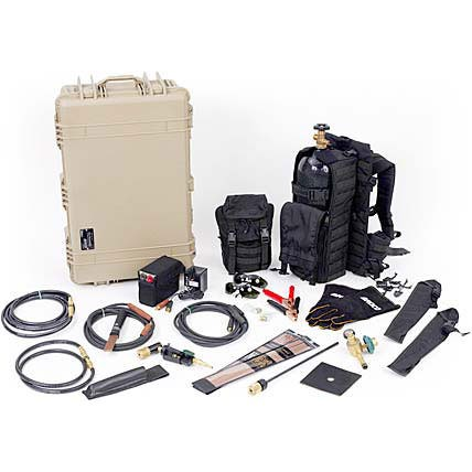 BROCO Backpacked Tactical Torch Set with 45 cu ft. Aluminum Cylinders PC/TACMOD1