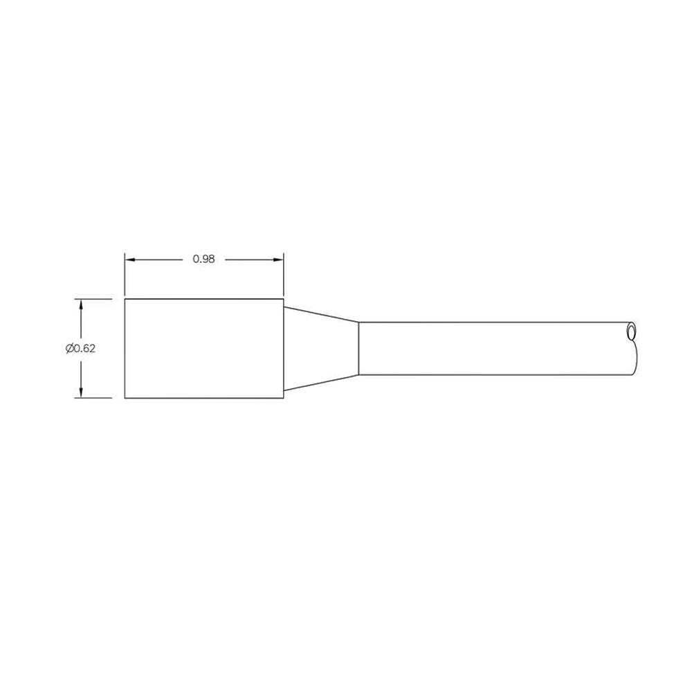 SEA CON Micro Wet-Con In-Line Connector - 6 Socket Female MCIL6F Dimension Details