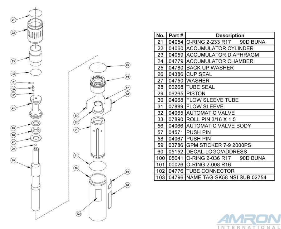Stanley Hydraulic Underwater Sinker Drill SK58 Blowapart Part 3