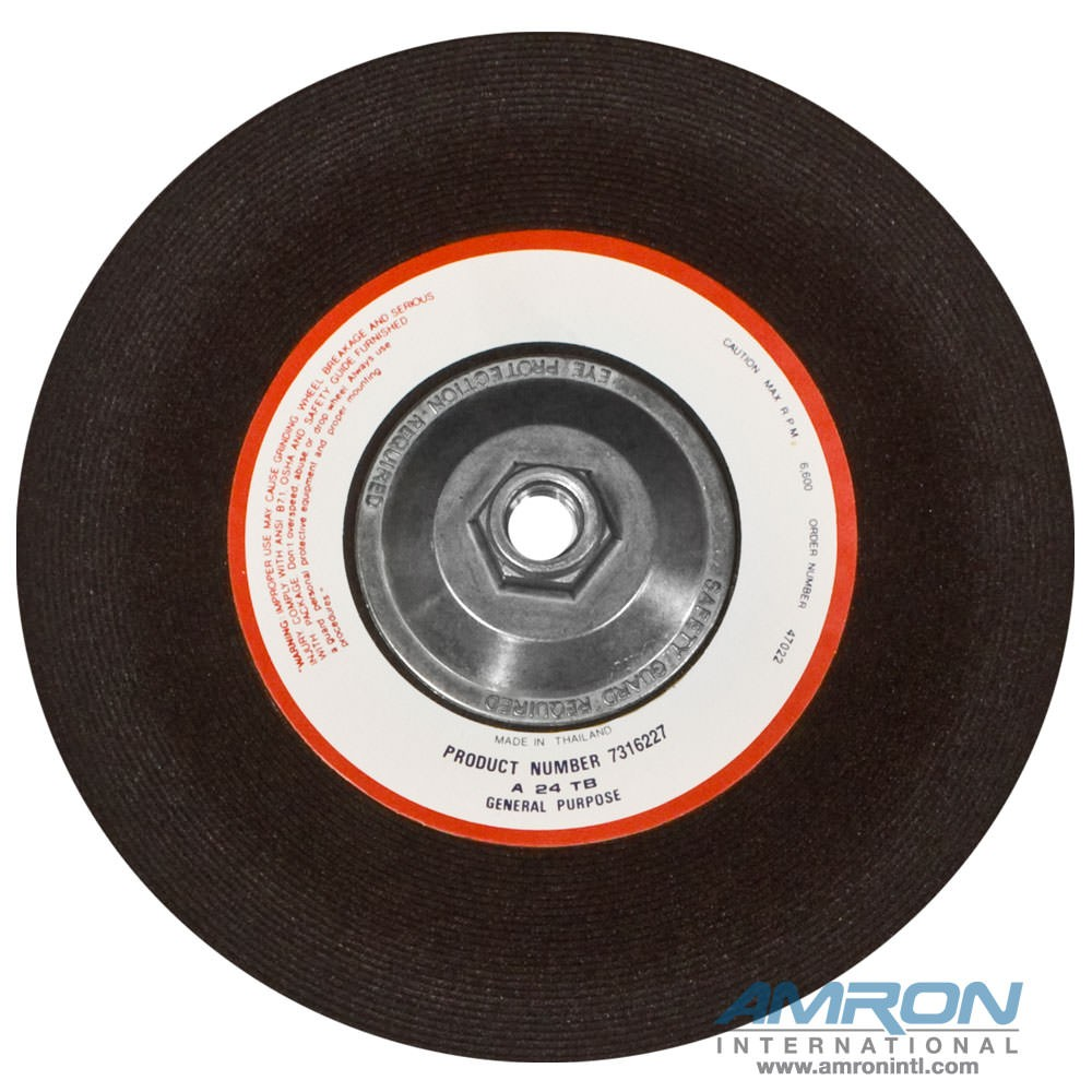 02587 Grinding Wheel for Metal 9 in. dia. 5/8 in.-11 in.