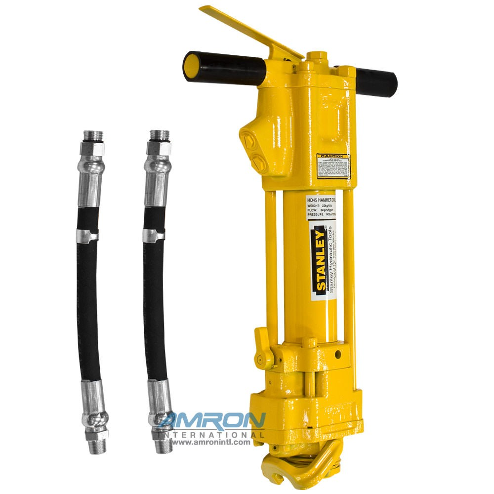 Stanley Hydraulic Underwater Hammer Drill - 2 Inch Chuck (Includes Hose Whips; Excludes Couplers) HD45310