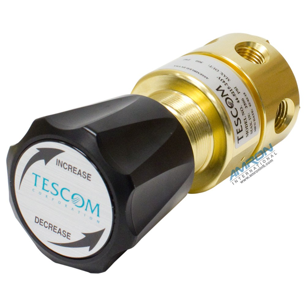 Tescom Pressure Reducing Regulator Venting 5-500 PSIG – Brass 44-5215-243V