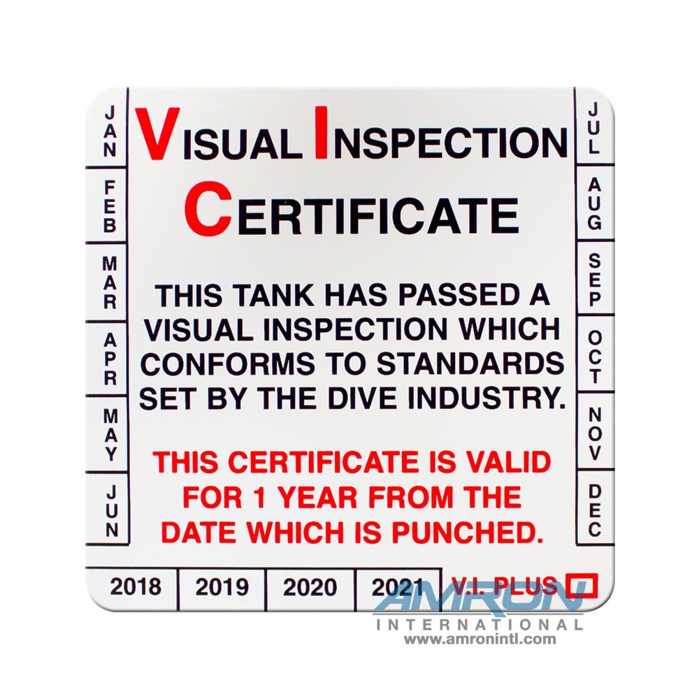 Trident Visual Tank Inspection Stickers DS05