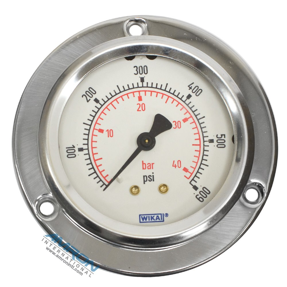 Wika Model 212.53 Bourdon Tube Dry Case Pressure Gauge 2.5 in 0-600 PSI 1/4 in
