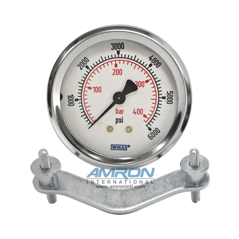 Wika Model 212.53 Bourdon Tube Dry Case Pressure Gauge 2.5 in 0-6000 PSI 1/4 in