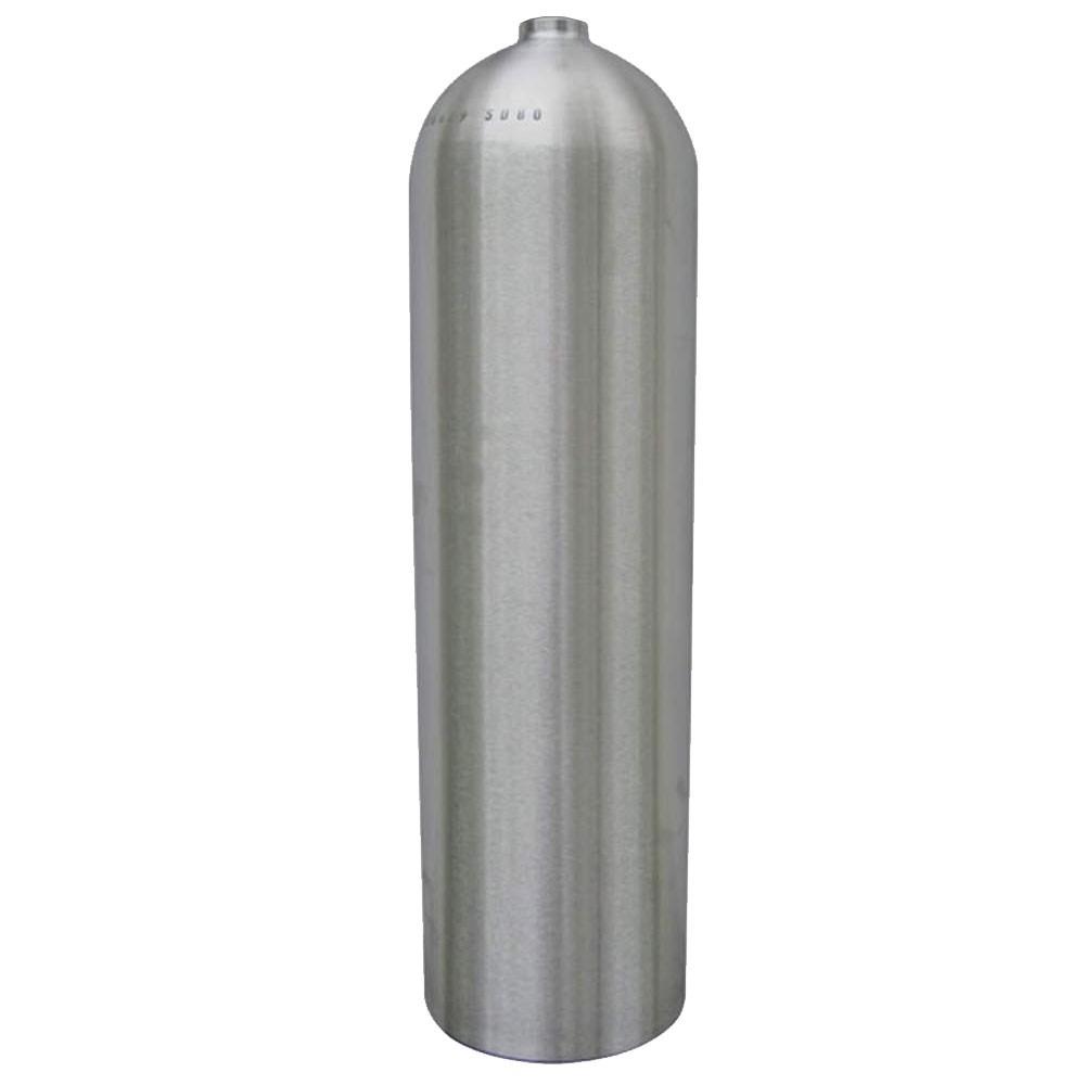 AL80 Aluminum SCUBA Cylinder with No Valve - Brushed No Coat AL80BNC-NV