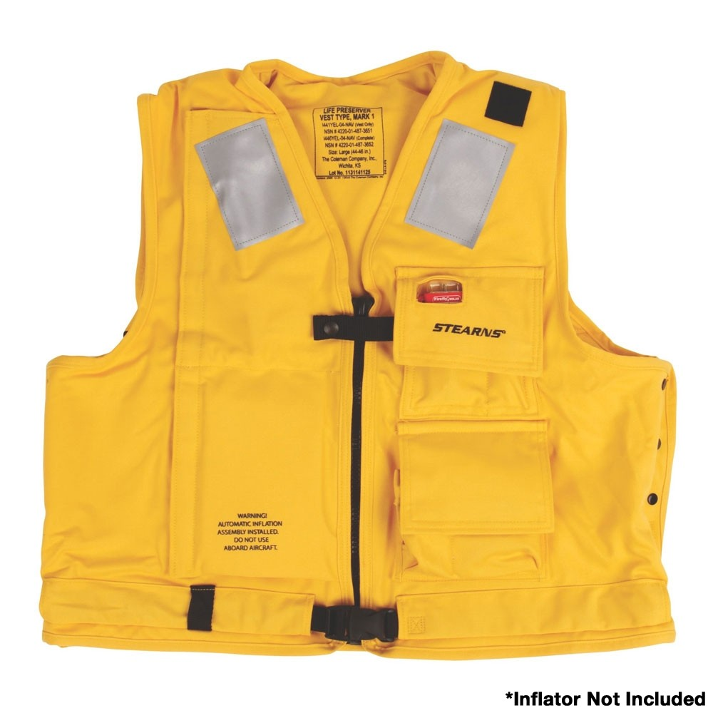 Stearns U.S. Navy MK1 Inflatable Vest Shell  Only - Yellow