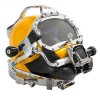 37 500-051-455 Commercial Diving Helmet with Male Waterproof Connectors and 455 Balanced Regulator