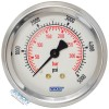 Model 212.53 Bourdon Tube Dry Case Pressure Gauge 2.5 in. 0-5000 PSI 1/4 in. NPT - Center Back Mount - No Flange