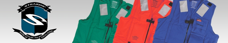 Stearns PFDs, Life Jackets & Vests