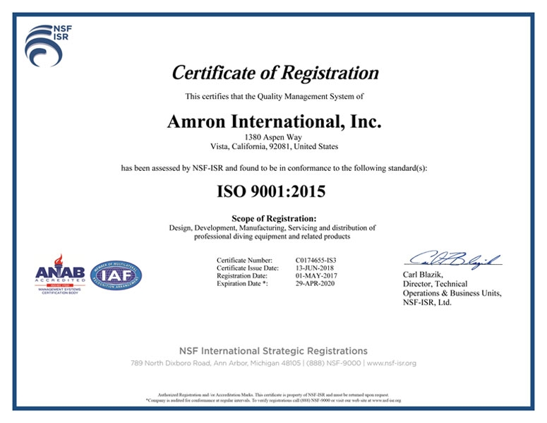 ISO Certification | Amron International