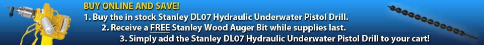 Stanley Hydraulic Underwater Pistol Drill Auger Bit promo