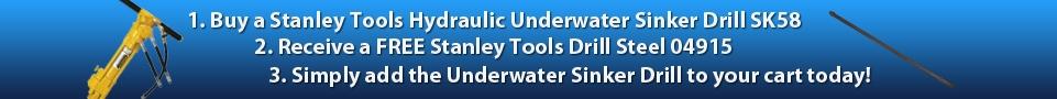 Stanley Sinker Drill Steel promo top banner