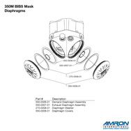 Amron International 350M BIBS Mask Diaphargm Breakout