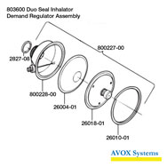 Avox 803600 Demand Regulator Assembly Parts Breakout
