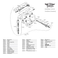 Kirby Morgan BandMask 18 & 28 BandMask Side Block Assembly Breakout
