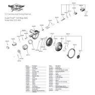 Kirby Morgan 37 Commercial Diving Helmet SuperFlow 350 Regulator Parts Breakout